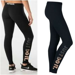Nike Pro Leg-A-See Leggings Just Do It 678858 NEW